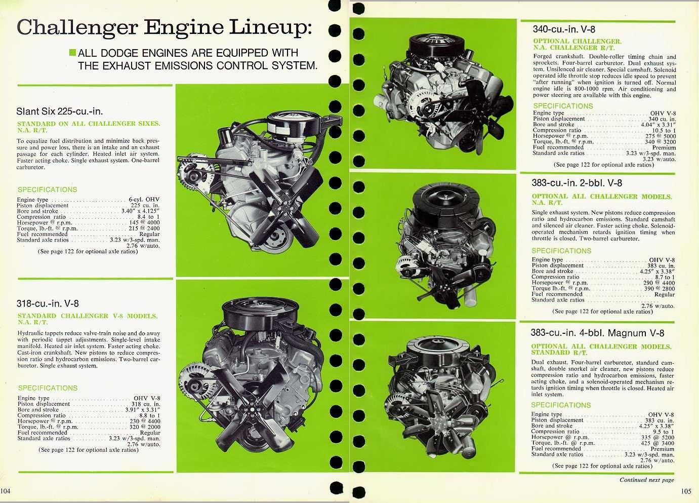 a '70 Challenger brochure,