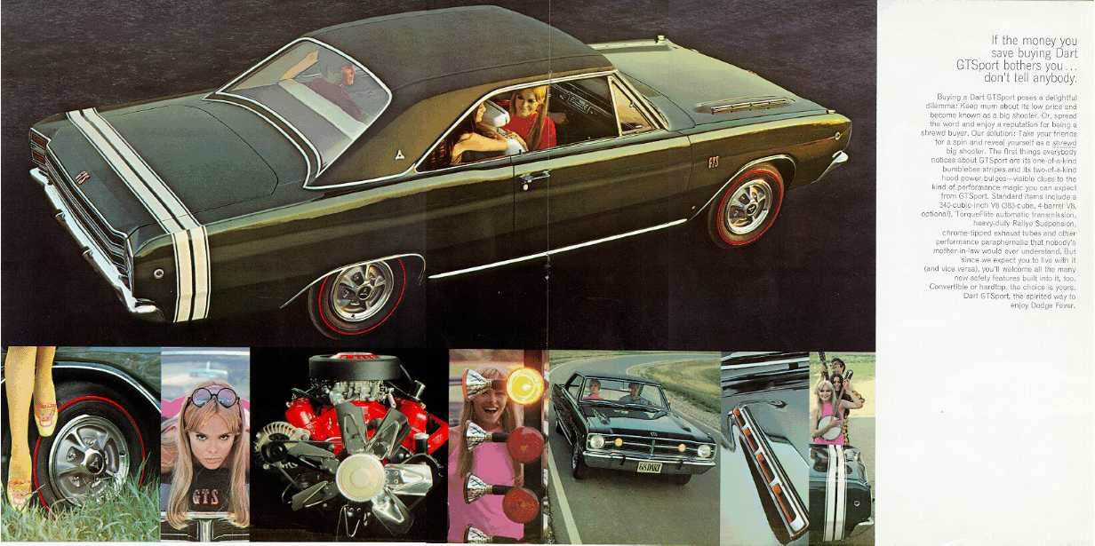 1968 Dodge Dart Dealer Brochure - Stock Mopar