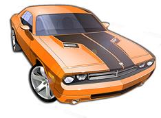 2009 Dodge Challenger Concept Sketch